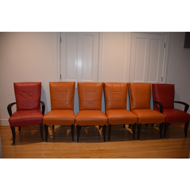 Orange Dakota Jackson Puff Chairs Dining Chairs - Set of 6 For Sale - Image 8 of 8