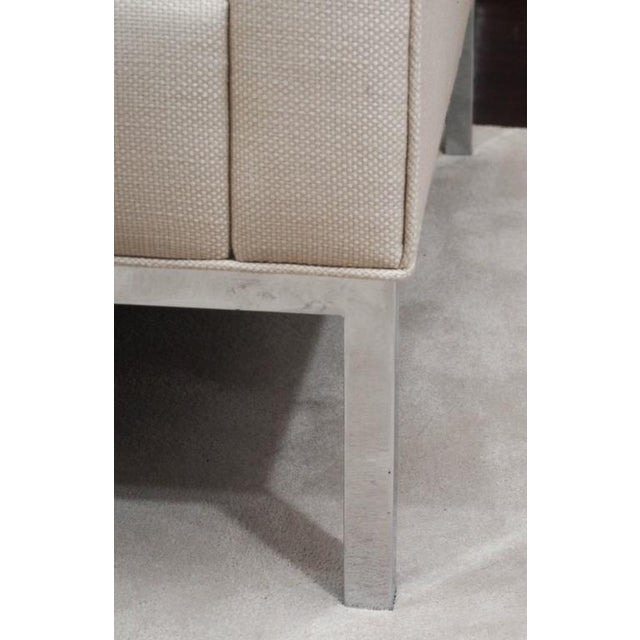 Modern Knoll Style Upholstered Sofa For Sale - Image 3 of 7