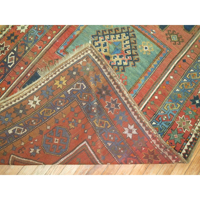 Antique Caucasian Rug, 4'6'' x 8' For Sale In New York - Image 6 of 11