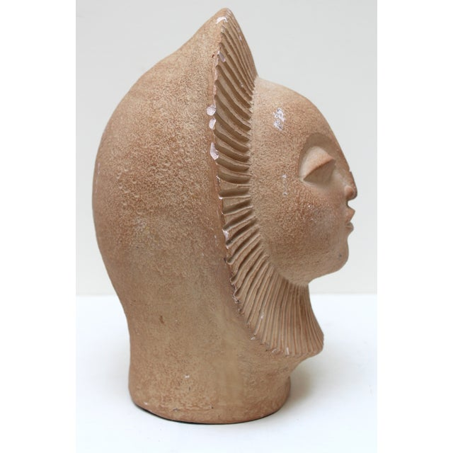 Mid-Century Sun Face Sculpture For Sale In Richmond - Image 6 of 9