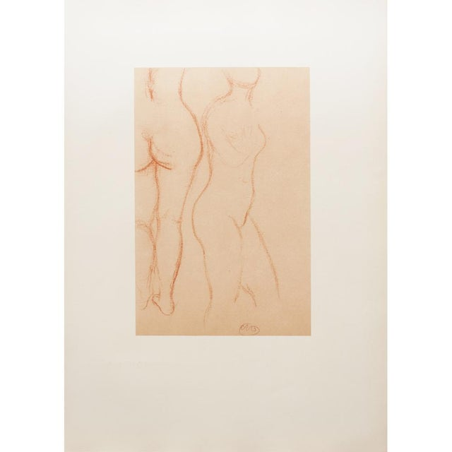 Brown 1950s Aristide Maillol, Studies Vintage Hungarian Print For Sale - Image 8 of 9