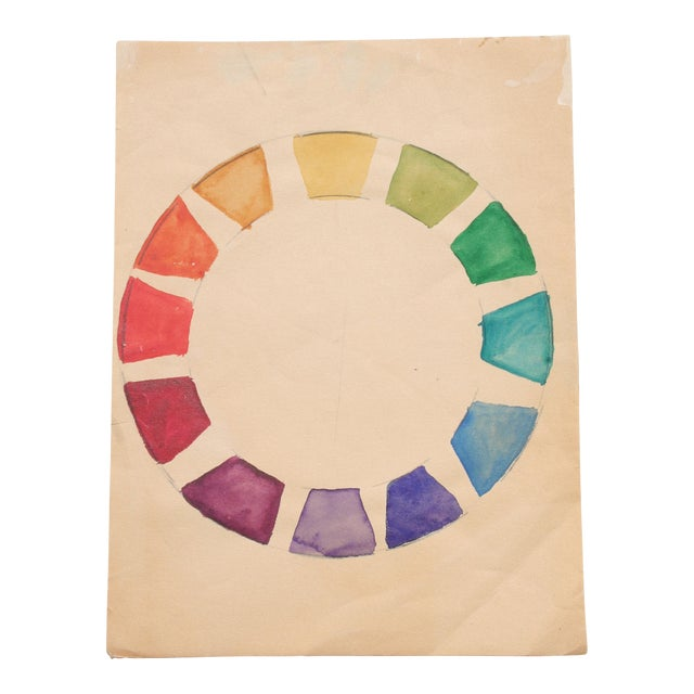 Watercolor Color Wheel by Kathryn Bernard For Sale