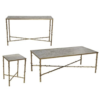 Contemporary Glostrup Coffee Table Console Table & End Table Set - 3 Pieces For Sale