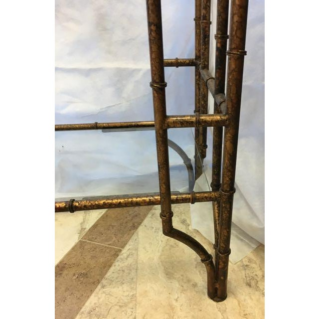 Brass Mid-Century Modern Brass Faux Bamboo Etagere For Sale - Image 7 of 10