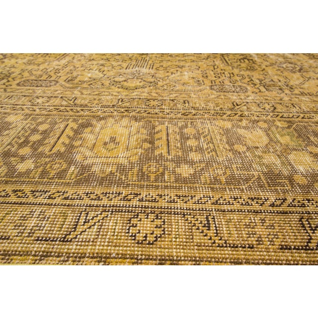 Apadana Yellow Over-Dyed Rug - 9′5″ × 12′8″ For Sale - Image 5 of 7