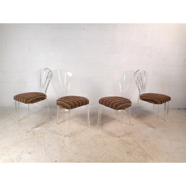 1970s Mid-Century Modern Lucite Dining Set For Sale - Image 5 of 13