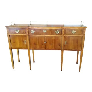 Vintage American of Martinsville American Chippendale/Federal Style Knotty Pine Sideboard For Sale