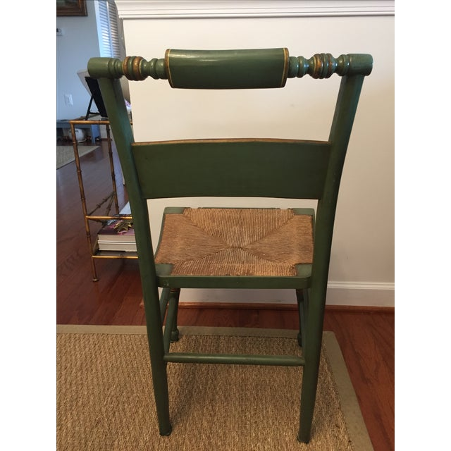 Hitchcock Style Painted Rush Seat Chairs- Set of 4 For Sale - Image 5 of 7