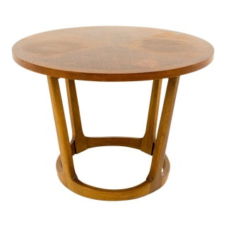 Mid Century Modern Lane Circular Side Table For Sale