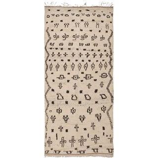 Vintage Moroccan Rug - 4′10″ × 10′2″ For Sale