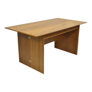 Sannemann Danish Modern Teak Drop Leaf Desk
