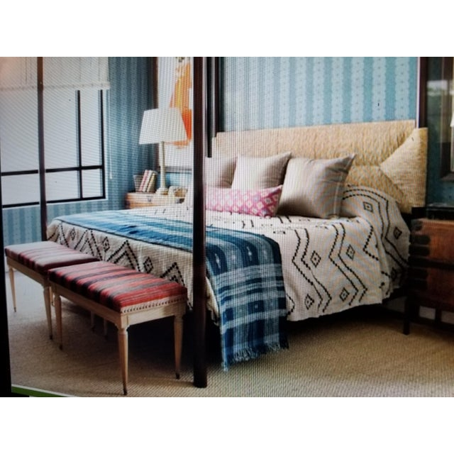 Textile Hand Woven Wool Bed Cover For Sale - Image 7 of 8