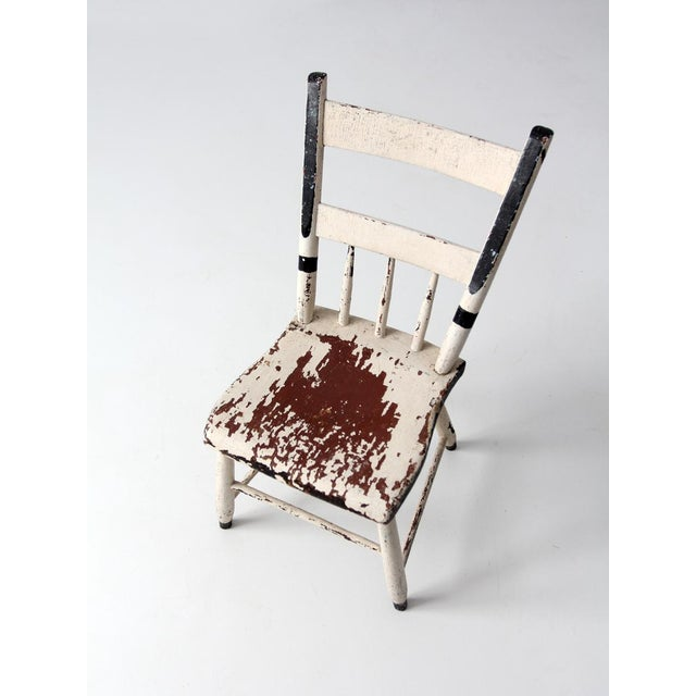 Groovy Antique White Primitive Chair Chairish Ncnpc Chair Design For Home Ncnpcorg