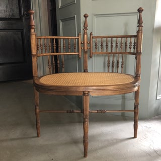 Antique Victorian Stick and Ball Double Seat Settee Bench Preview