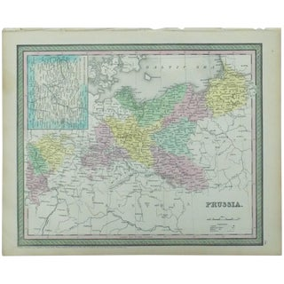 Map of Prussia & Berlin by Cowperthwait, 1850 For Sale