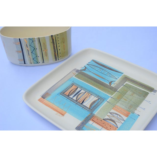Ceramic 1950s Sascha Brastoff Ceramic Tray and Planter - a Pair For Sale - Image 7 of 13