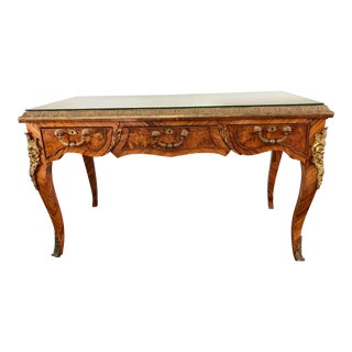 French Louis XV Gilt-Bronze Mounted Kingwood Parquetry Writing Desk For Sale