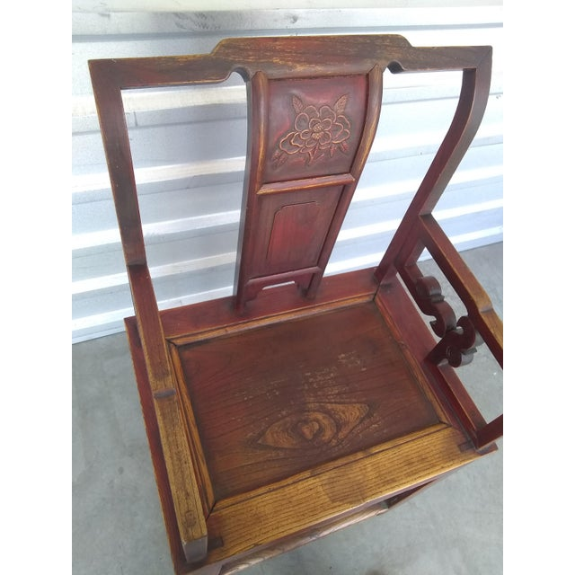 Ceramic Late 19th Century Antique Chinese Officials Chair For Sale - Image 7 of 13