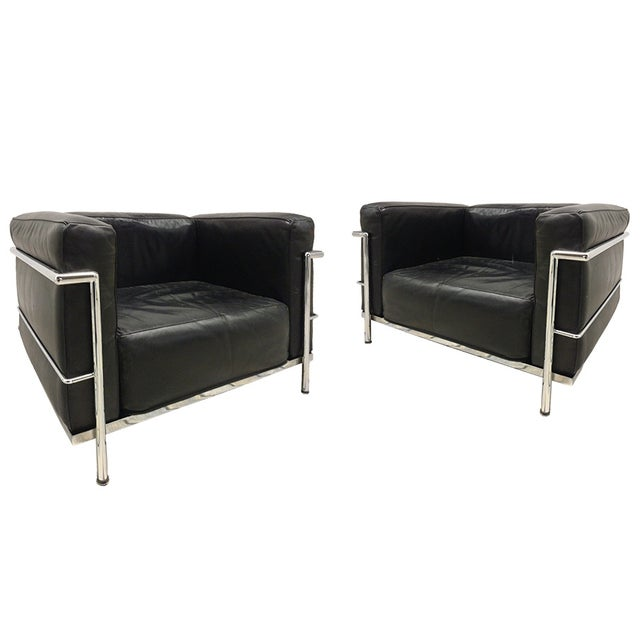 Le Corbusier LC-3 Armchairs - Pair - Image 1 of 7