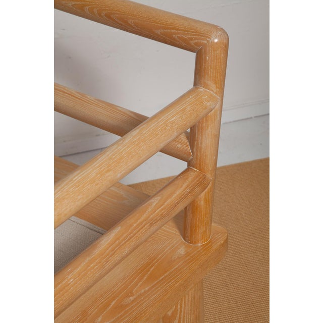 Pair of Karl Springer Cerused Oak Dowelwood Chairs For Sale - Image 10 of 13