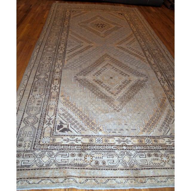 Textile 1900s Handmade Antique East Turkestan Khotan Rug 6.1' X 11.9' For Sale - Image 7 of 12