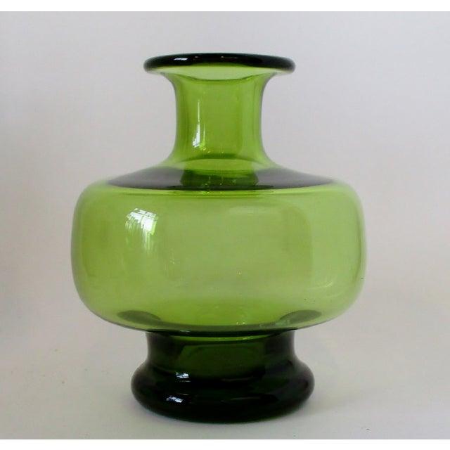 Holmegaard Green Glass Vase For Sale In Los Angeles - Image 6 of 6