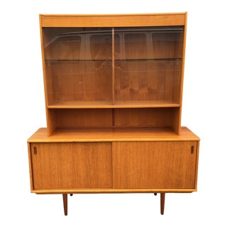1970s Danish Modern Teak Hutch by Drylund For Sale
