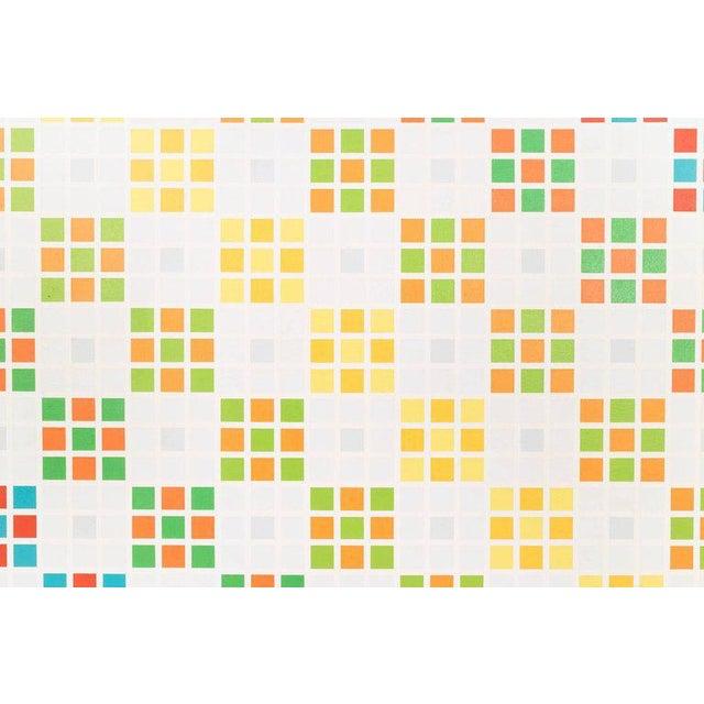 Craig Ellwood (1922 - 1992) Tesoruccio III Geometric Abstractionist work depicting a series of multi-colored,...