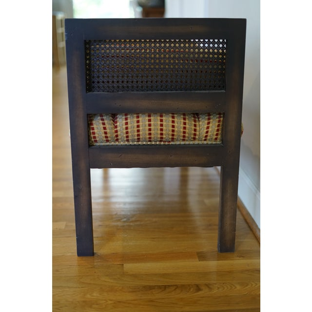 Tan Mid-Century Modern Lewitte's Cane Settee For Sale - Image 8 of 11