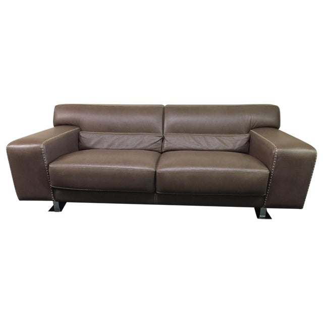 Roche Bobois Urban Leather Loveseat - Image 1 of 10