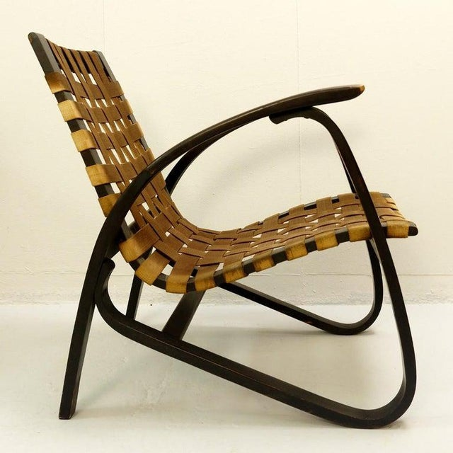 Pair of Bentwood Armchairs by Jan Vanek for UP Závody, 1930s