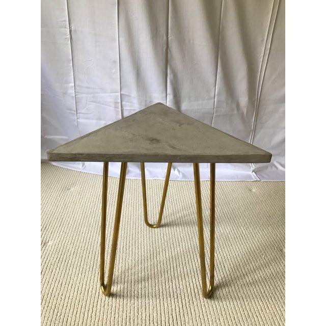 Katy Skelton Concrete & Brass Zelda Table - Image 3 of 6