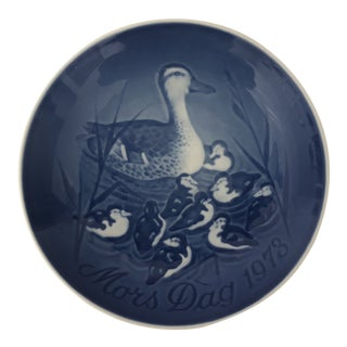 1978 Bing & Grondahl Mother's Day Plate, Mors Dag Mama Duck W/Babies For Sale
