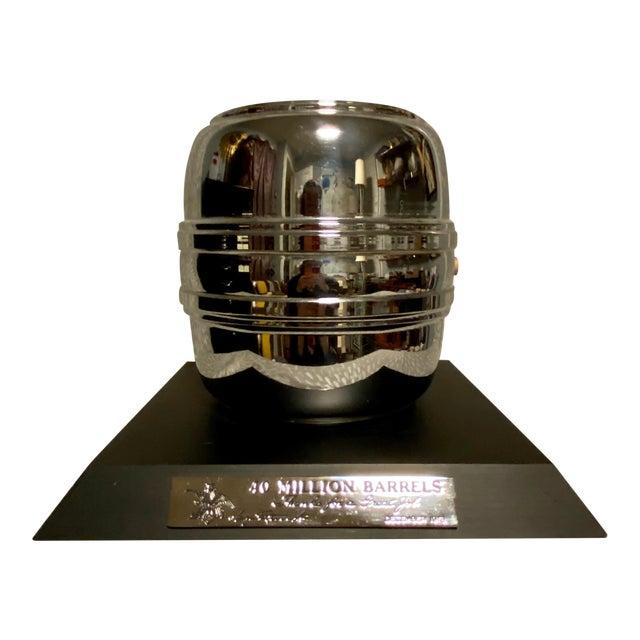 1970s Vintage 40 Million Barrels Anheuser Busch Breweriana Trophy For Sale