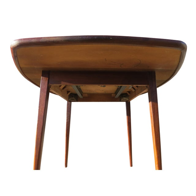 Walnut 1970's Danish Modern Walnut Extendable Dining Table For Sale - Image 7 of 13