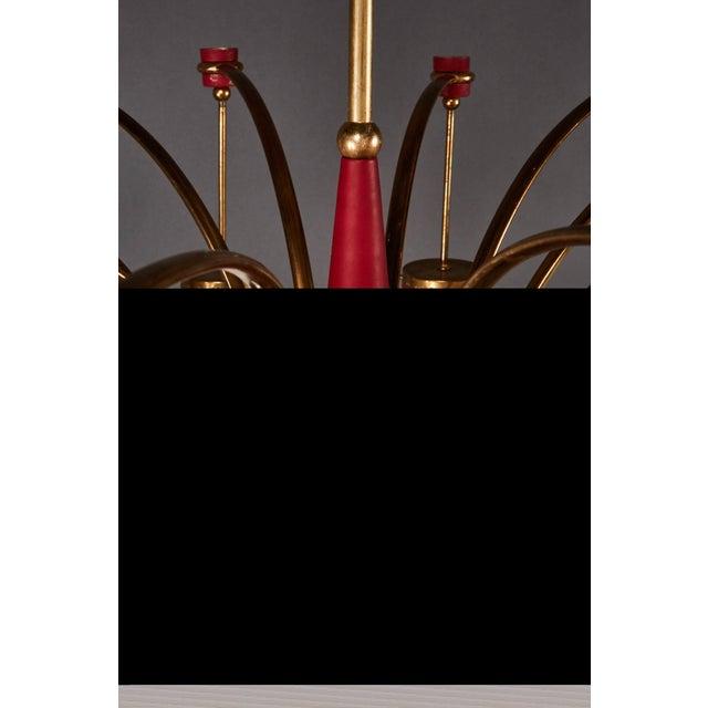Italian Stilnovo Twelve-Globe Chandelier For Sale In Los Angeles - Image 6 of 10