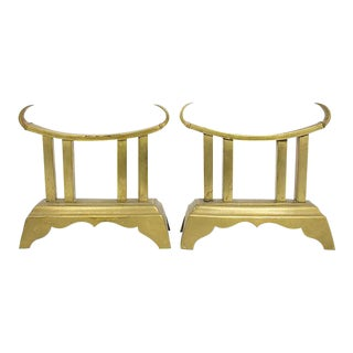 Large Brass Pagoda Bookends