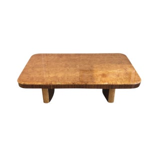 Mid-Century Modern Lacquered Walnut Coffee Table For Sale