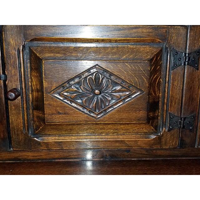 English Oak Renaissance Revival Cabinet For Sale - Image 12 of 13