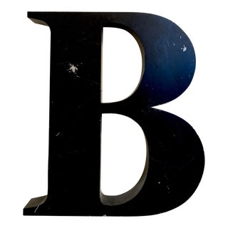 Vintage Metal Letter B For Sale