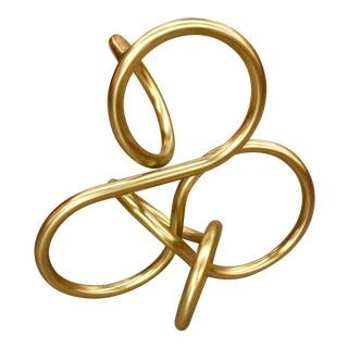 Brass Knot Sculpture For Sale