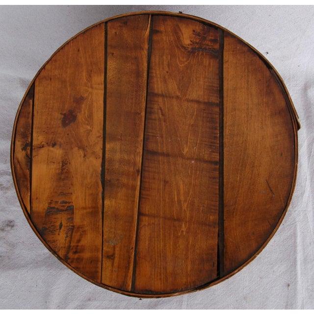 Vintage Rustic Round Wood Lidded Box - Image 10 of 11