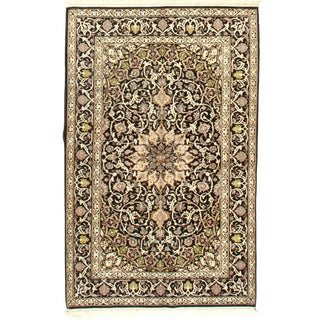 """Persian Isfahan Area Rug - 5'2"""" X 3'4"""" For Sale"""