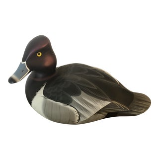 1970s Ducks Unlimited Randy Tull Blue Bill Decoy For Sale