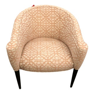 Modern Pink Accent Chair For Sale