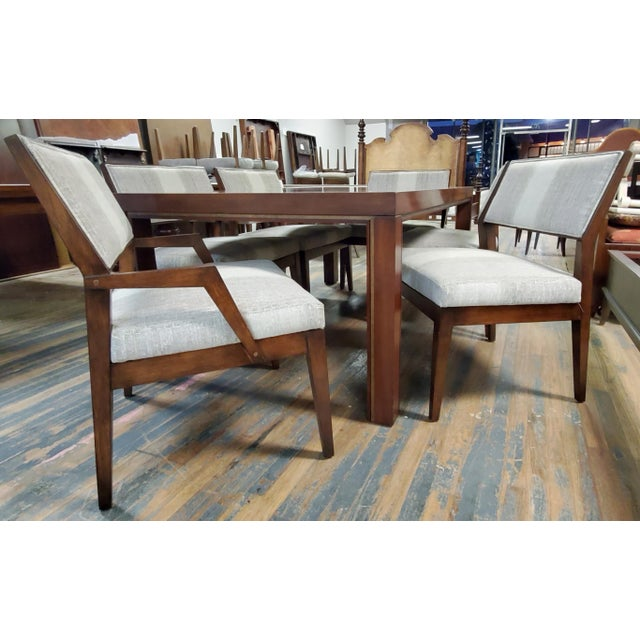Mid-Century Modern Henredon Furniture Venue Walnut Mid-Century Modern Dining Table & Chair Set For Sale - Image 3 of 12
