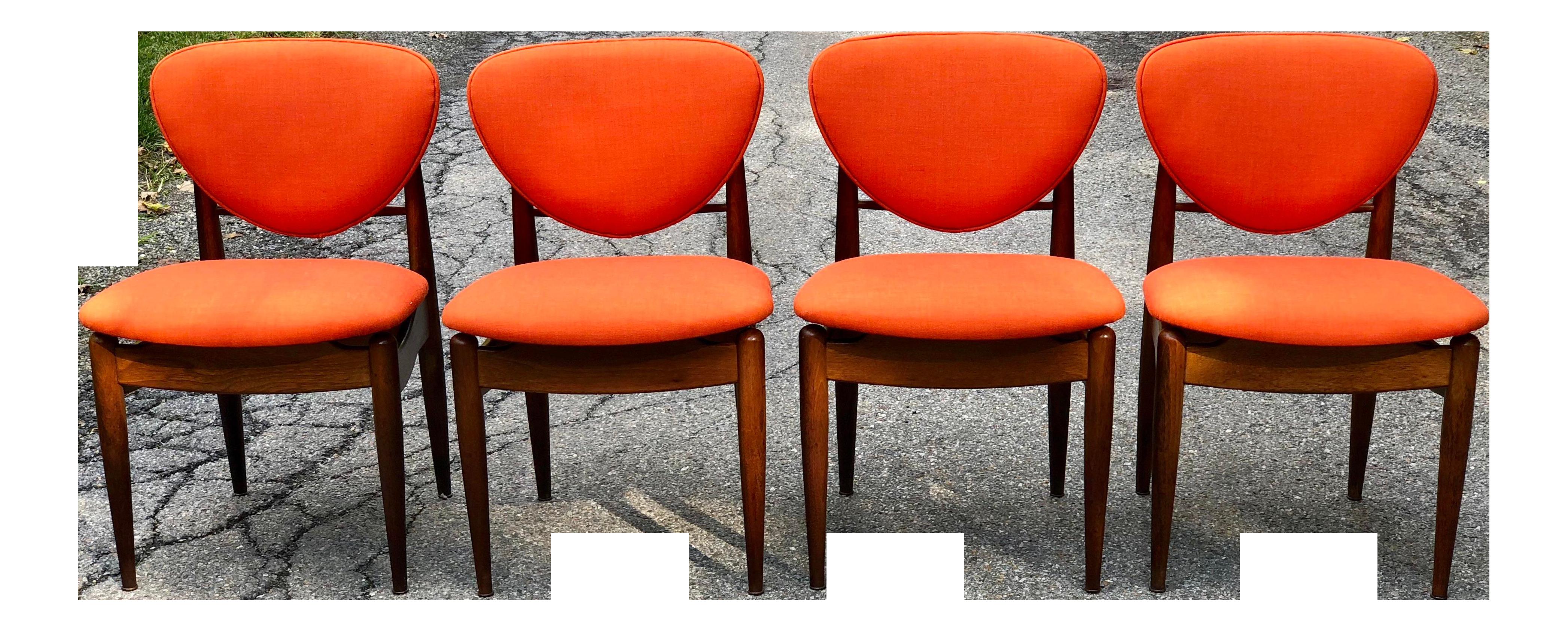 20th Century Danish Modern John Stuart Dining Chairs   Set Of 4