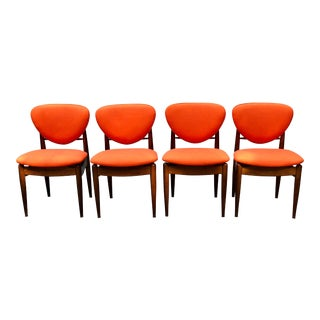 Finn Juhl Style Danish Modern John Stuart Dining Chairs - Set of 4 For Sale