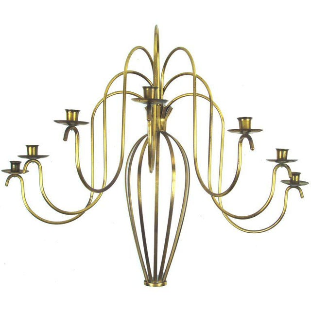 Metal Classic and Elegant Brass Wall Sconce For Sale - Image 7 of 7