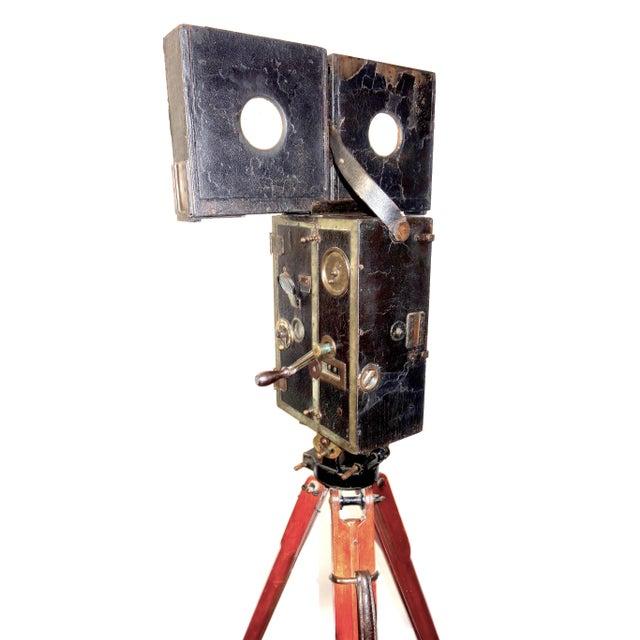 Pathe 35mm Professional Type X Cinema Film Studio Camera. Rare Circa 1908-12. One of a Kind. Unrestored. For Sale - Image 9 of 11